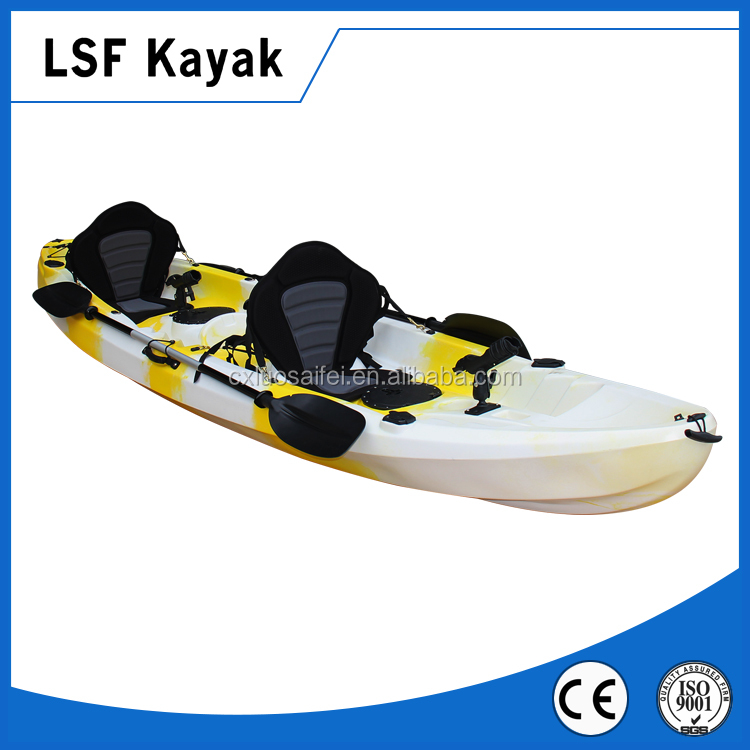 Plastic 3 person sit on top kayak