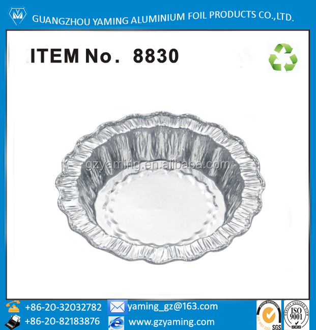 foil containers specialty shape disposable aluminium foil bakery container for baking house 8830