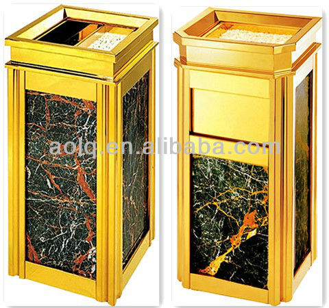 Color printed four square public dustbin