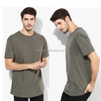 2016 latest plain spft cotton regular fit round neck simple blank mans t-shirt