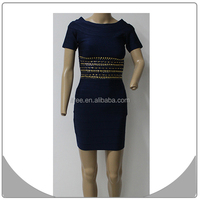 nice beading sexy ladies fashion formal work dresses