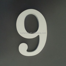 new style cheap home decorative wooden numbers educational wooden carving toy