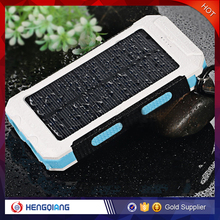 10000mAh Waterproof Solar Power Bank Outdoor Solar Powerbank with Led Light