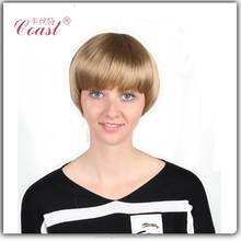 silk top short fashion blonde human hair full lace wig
