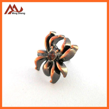 brush copper alloy spider pin badge for clothing decoration