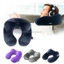 Best seller U shape inflatable travel neck pillow head support for sleep