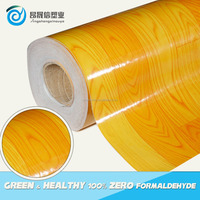 Recycled felt backing pvc floor wood color with PET surface in best price