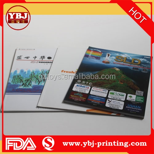 Factory Supply Softcover Book/Magazine/Brochure Printing