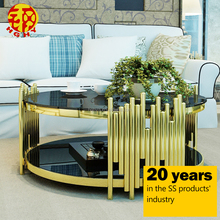 stainless steel metal living room low height golden exotic european style coffee table legs