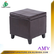 2015 Living Room Furniture Colorful Storage Ottoman,Pu Leather Storage Wooden Ottoman For Shoes