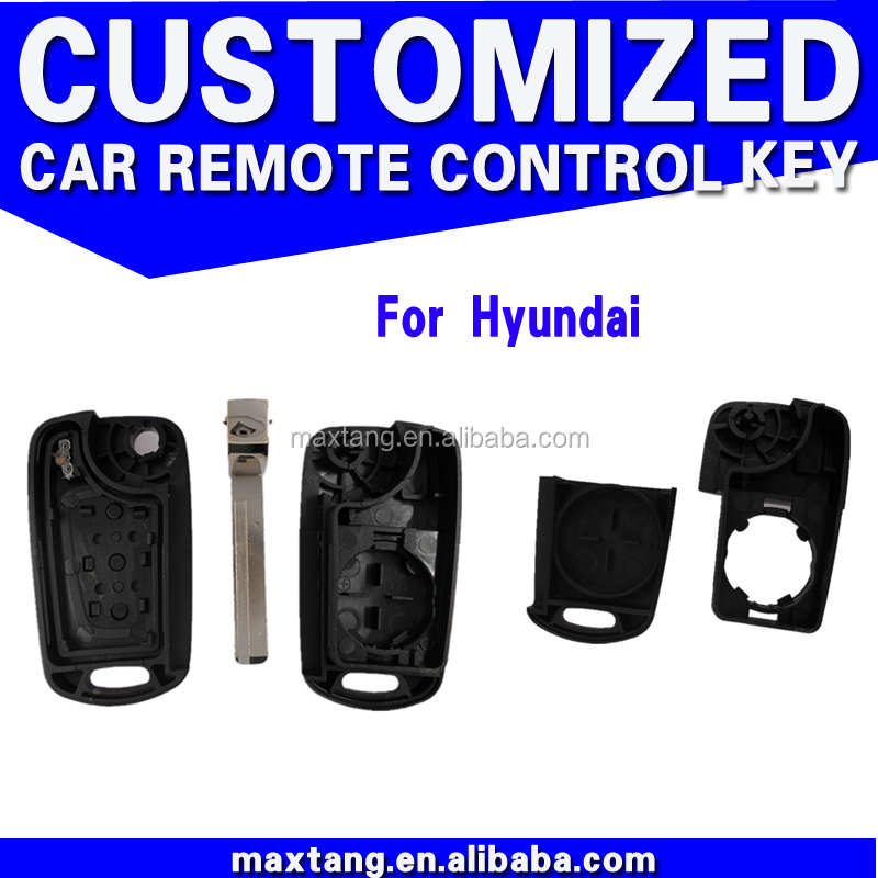 Auto Flip Key Case For Hyundai Accent China Professional Folding Key Shell