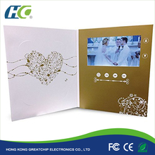 OEM High Quality LCD Video Module / Business card / printing brochure with internal memory 1GB