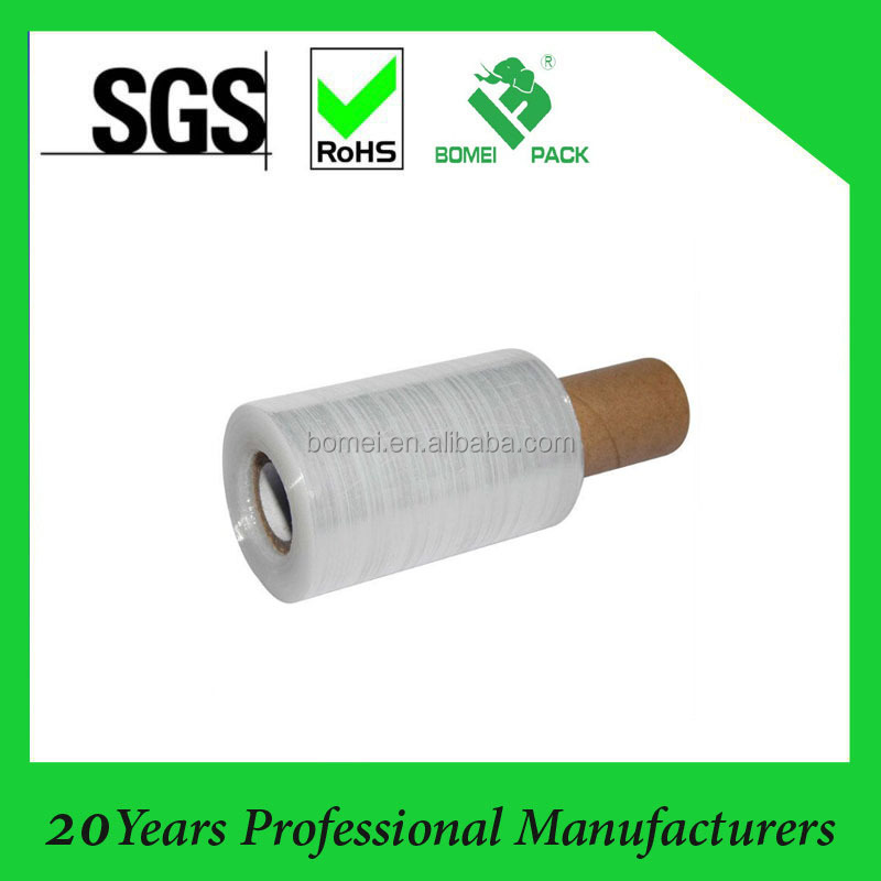 Mini Handy Clear and Black Pallet Stretch Shrink Wrap Film 100mm x 150m 20MIC