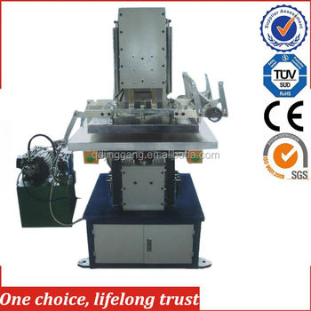 TJ-57large area hydraulic license plate hot foil stamping machine Leather embossing machine