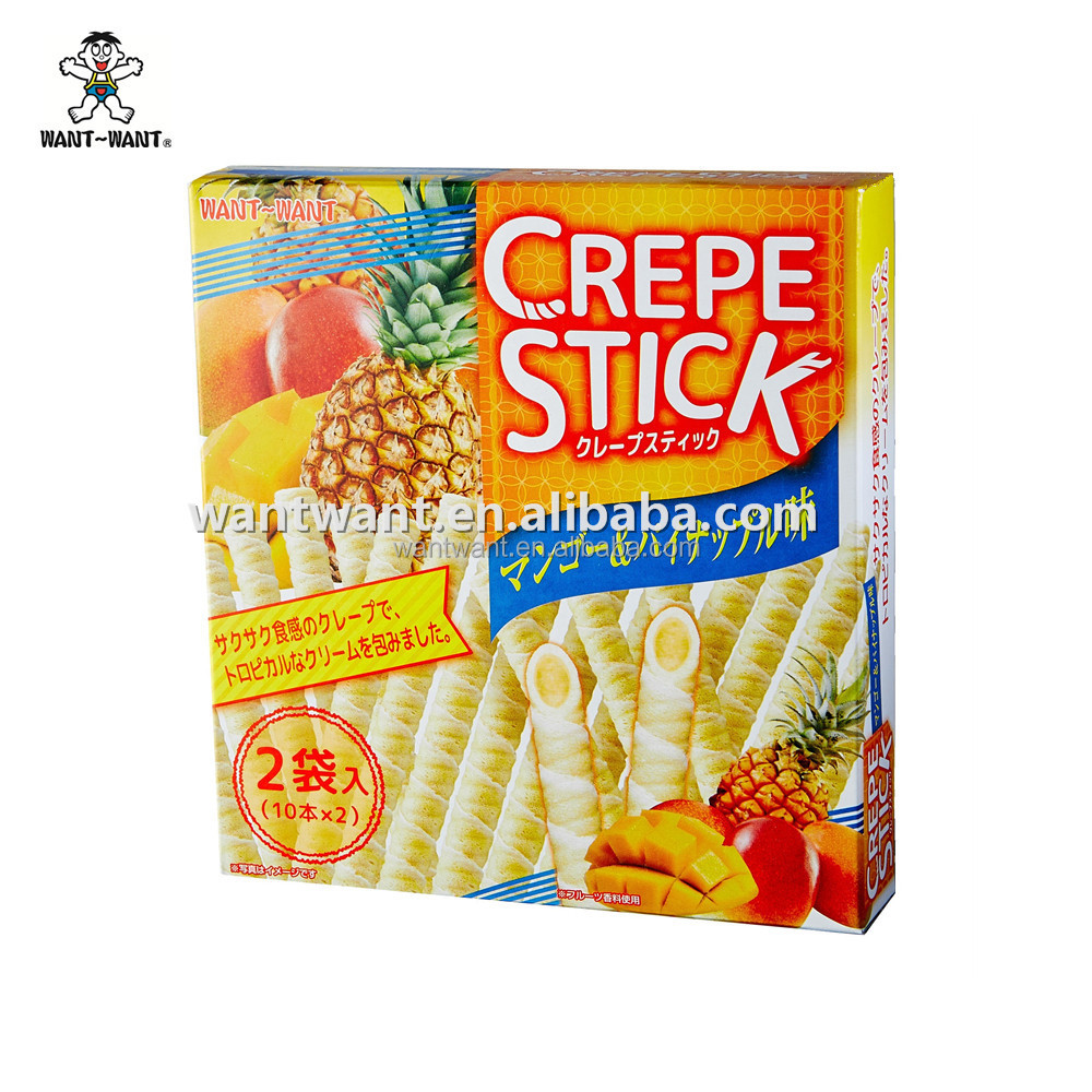 Wafer Stick Mango and Pineapple Flavor Wafer filled with cream
