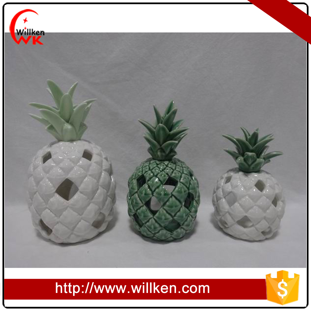 Designer pineapple ceramic ornament home decor