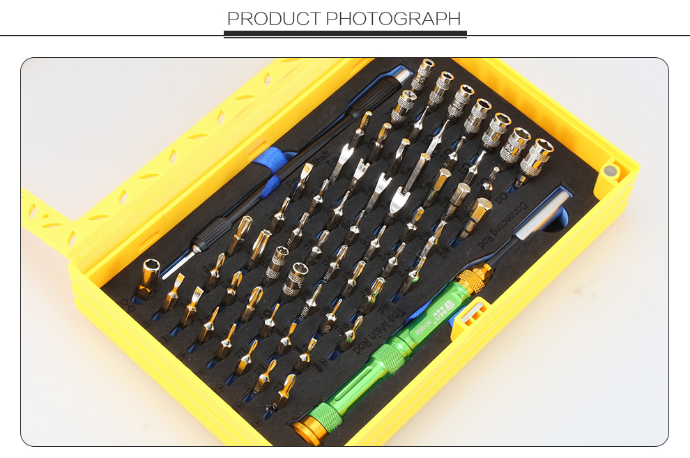 BST-8928 63 in 1 Professional Repair Tools Kit Multifunction Magnetic CRV Precision Screwdriver Set Cell Phone Repair Kit