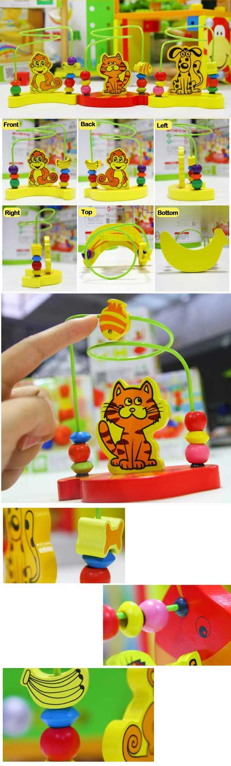 Fashion Kids Wood Diy Animal Toy Intelligent Learning Game Educational Toys For Kids