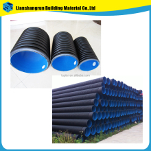 water supply double wall hdpe dn 110 160 200 225 300 400 500 600 700 800mm pipe