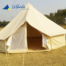 Personalized beach camping large family folding bed bell tent for big party