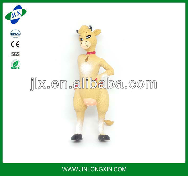 small plastic bull rodeo toy