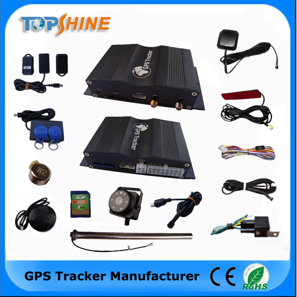 Most powerful Support 4 fuel sensor and camera / rfid/sd card/temperature/crash sensor GPS Car Tracker