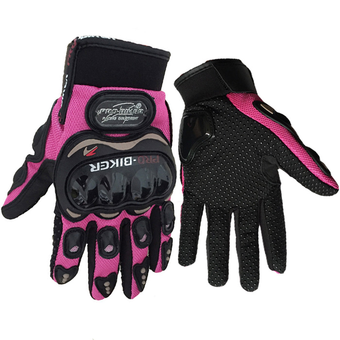 YOUME Pink Pro Biker Motorcycle Gloves Full Finger Unisex Motos Sports Motorbike Motocross Protective Gear Racing Glove S-XXL