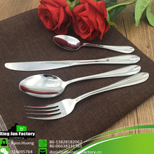 Stainless Steel Metal Feature Tableware Fork and Spoon