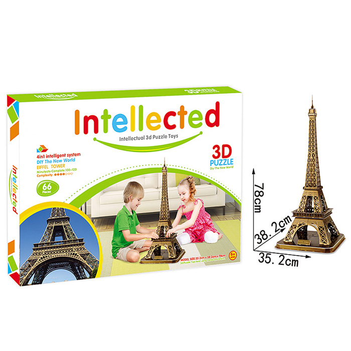 Intellectual 3D Puzzle Toys DIY Eiffel Tower Building 3d paper model puzzle