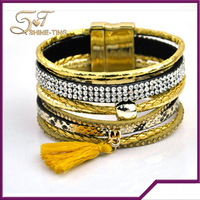 New design magnetic saudi arabia jewelry gold bracelet for men