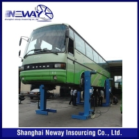 Best price high quality heavy duty four post car lift