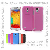 Hard Case Cover Ultra Thin Slim 0,3 mm Transparent Matte for Samsung Galaxy S3 S 3 III Mini i8190 | S4 S 4 IV Mini i9190 Rose