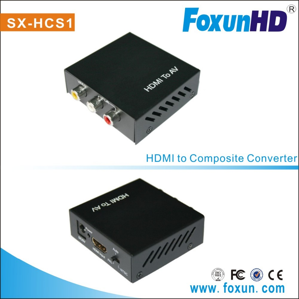 1080P Converter HDMI to Composite/AV/RCA/CVBS Support NTSC and PAL two standard TV formats