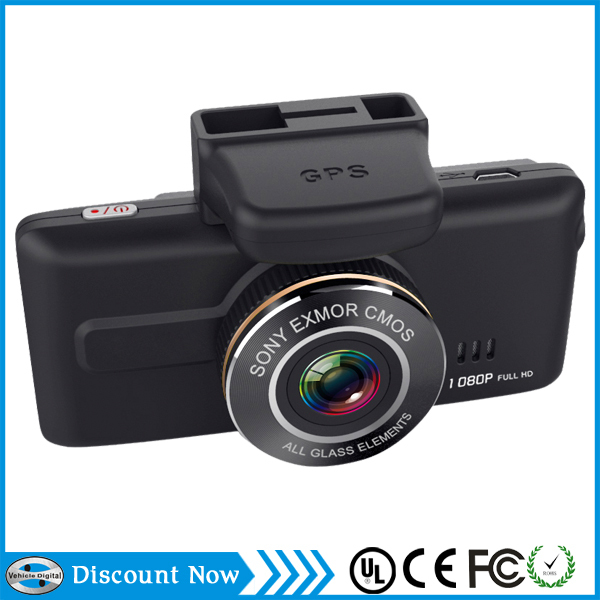 1080p FULL HD Sony chip Wide dynamic super night vision car dvr GPS dash driving camera with camera backup video