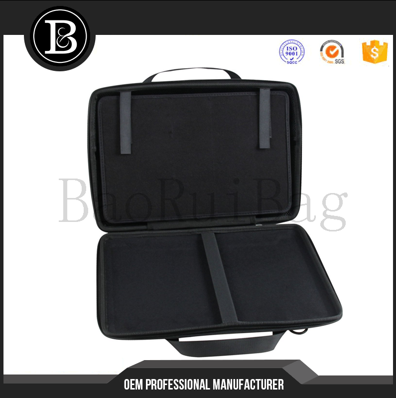 13.3 Inch Laptop black Multi-functional Messenger bag For Notebook Chromebook Laptop with hard cover Handle /Carry bag