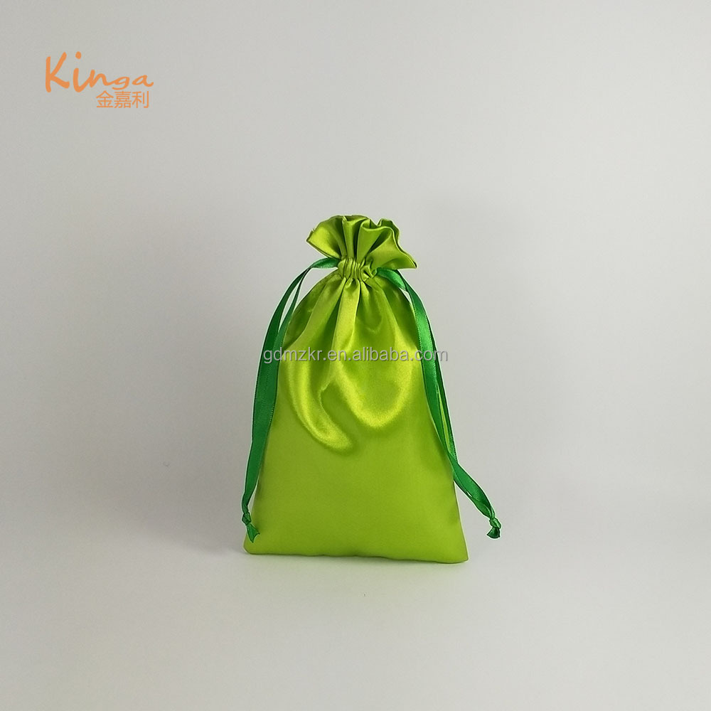 wholesale custom logo personalized dust hair extension packaging satin bags
