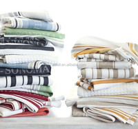 Kitchen textile plain white cotton tea towel wholesale for home textile