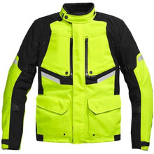 Mens cheap high reflective yellow custom motorcycle jacket