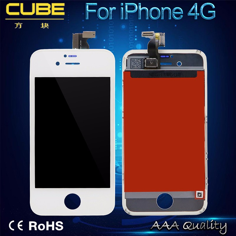Cell Phone Lcd For Iphone 4 Lcd Digitizer Touch Screen Display Black Color China