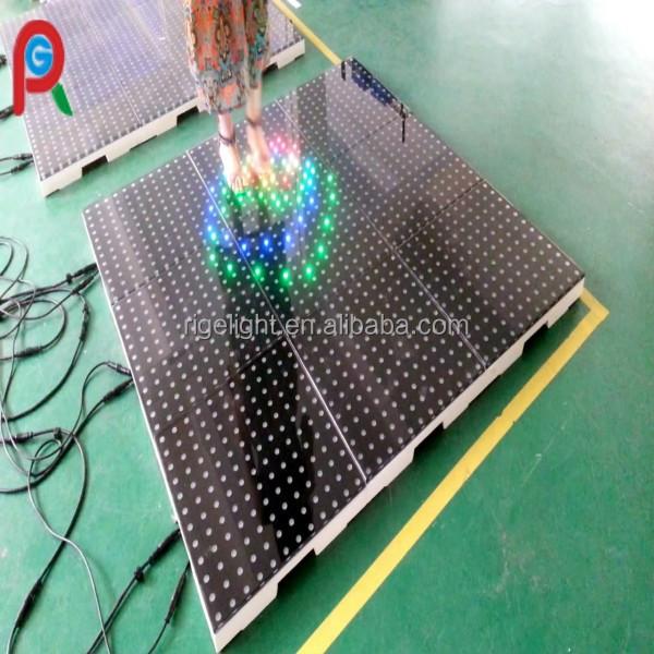 High resolution led portable sensitive dance floor 12 12 for 12 by 12 dance floor
