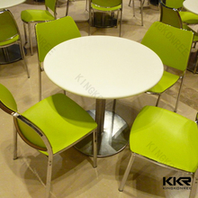KKR OEM solid surface korean dolphin dining table