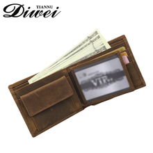 wholesale Brown horse leather men's wallets with RFID Blocking
