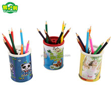 Aluminium Promotion Round Tin Pen Holder Wholesale