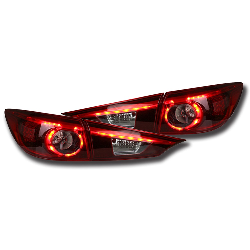 NightEye Car Styling for Mazda 3 Tail Lights 2015 New Mazda3 Axela LED Tail Light Car Hanging Accessories