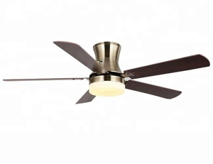 "52"" flush mount indoor and outdoor home and industrial use big ceiling fan with light from Zhongshan city"
