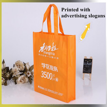 Silk screen printed bag advertising slogans non-woven advertising bag