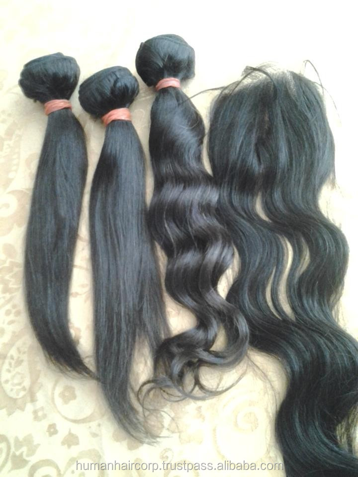 2015 PROMOTIONS!!! REMY VIRGIN INDIAN HUMAN HAIR EXPORTERS IN Delhi
