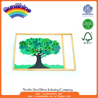Wooden Educational Montessori Toys,Apple Tree Game , biology