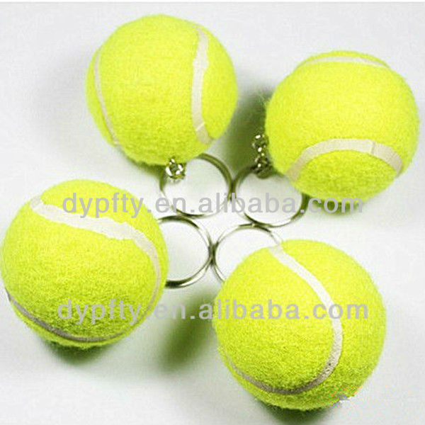 Key holder tennis ball keychain