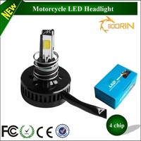 2400lm high low beam strobe lamp H4 h6 h7 scooter fz16 h6 led headlight